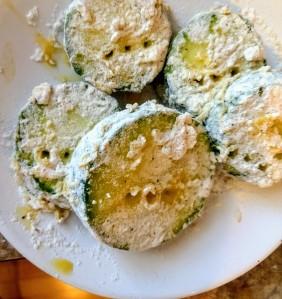 battered zucchini squash slices