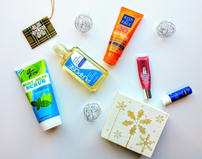 Day time skincare, Queen Helene, Purpose, Kiss My Face, Nivea, Clinique