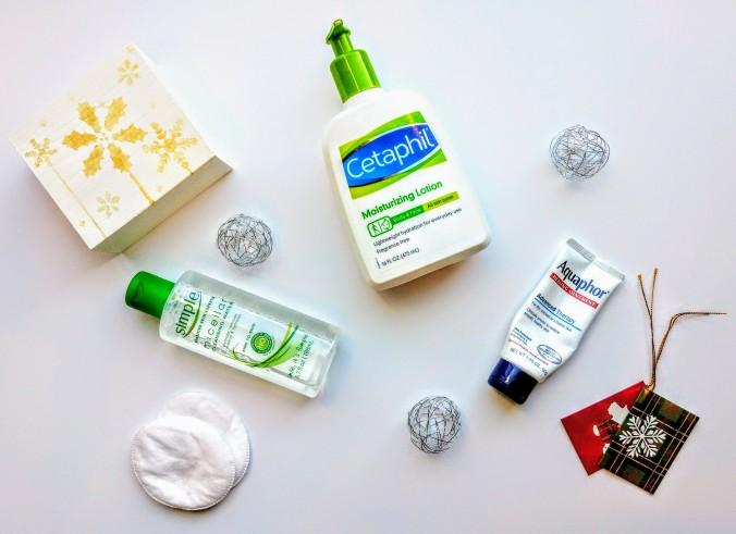 Evening skincare routine, Cetaphil, Simple, Aquaphor